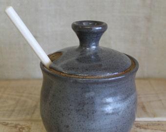 Grey Honey Pot