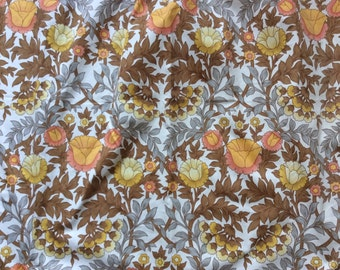 Two Available Large piece of Vintage Original Cotton 1960 William Morris Style Pretty Floral Curtain or Scrap Fabric