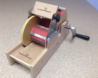 "New Baby Brother 4"" wide mini size drum carder W/Packer Brush and Doffer"