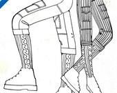 "Knickers Pattern Retro 1970 Hiking Climbing Pants Vintage Daisy Kingdom Sew & Ski # 21 Unisex Waist 24"" - 38"" All Sizes Uncut"