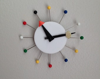 1:6 Scale Handmade Rendition of Modern Ball Clock for 12 inch doll dioramas