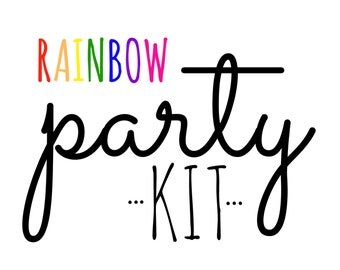 Rainbow Party Kit!  Birthday Party in a Box! Rainbow party supplies