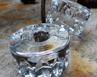 Signed Mid-Century Orrefors Candle Holders RARE!