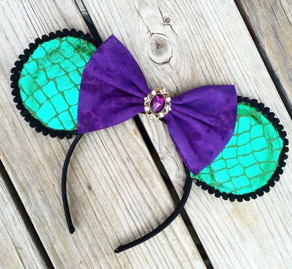 NEW MAL DESCENDANTS Ears - dress-up costume Walt Disney World, child woman girl, headband Disneyland, Disney