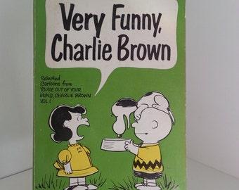 Very Funny Charlie Brown -1967 Comic Strip Book
