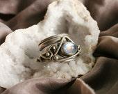 Pleiades Moonstone Silver Ring