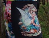 fairy fantasy tinkerbell rainbow leopard lycra skirt uk size 10 12