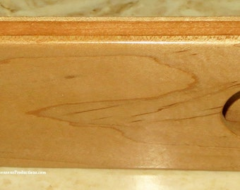 Hand Crafted Curly Maple and Cherry Wood Business or Credit Card Holder - Unisex Executive Professional 5th Anniversary Wood Gift -Item 4706