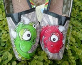 Dinosaur hand painted TOMS Price includes shoes.