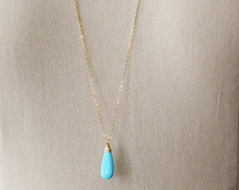 Turquoise Necklace, Genuine Turquoise necklace, December Birthstone