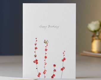 Butterfly & Blossom Birthday Card
