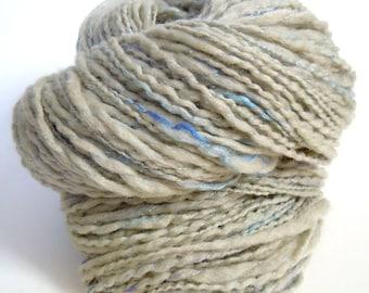 Acacia Sparkle Naturally Dyed Handspun Yarn BFL 110g
