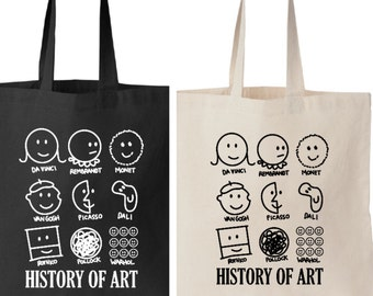 History Of Art in Smiley Face Tote Bag