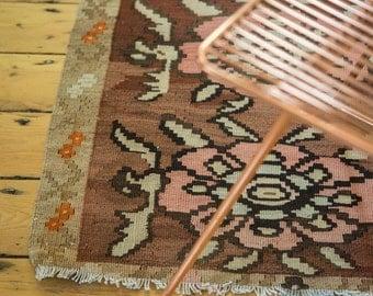 DISCOUNTED 2x2.5 Vintage Kilim Square Rug Mat