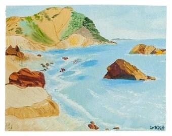 Mid Century Seascape Painting