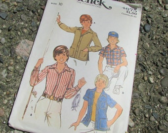 Boy's & Teen Boys' long and short shirt Butterick Pattern