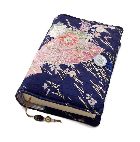 Fabric Book Covers Uk : Book cover fabric bible vintage kimono by