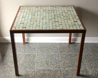 Jane and Gordon Martz Marshall Studios Mid Century / Danish Modern Tile Top Side Table