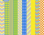 75% OFF SALE pool party digital papers boys - Pool Party Boys Digital Papers