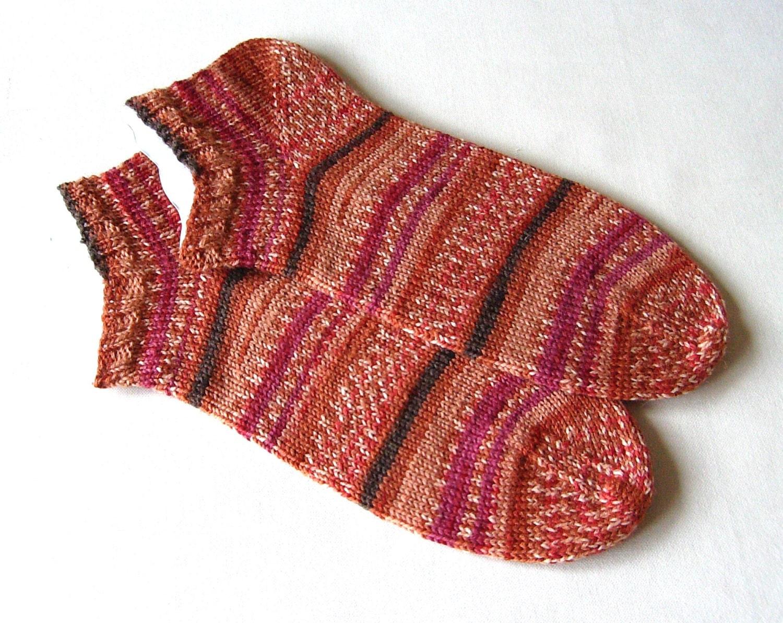 hand knit women sports socks athletic socks trainer socks
