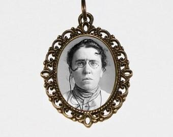 Anarchist Jewelry, Emma Goldman Necklace, Anarchy, Historical Women, Oval Pendant
