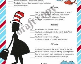 Baby Shower Game | Whats in your phone | Dr. Seuss