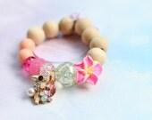 Toucan Glitter Charm Bracelet- Girl's