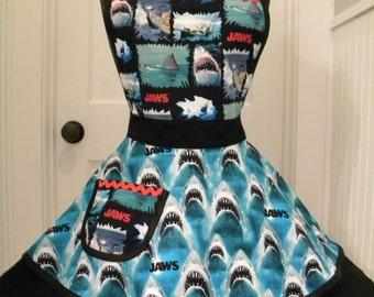 Womens Apron-JAWS Flounce Apron