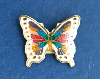 Enamel Butterfly Lapel Pin - Art Nouveau Brooch