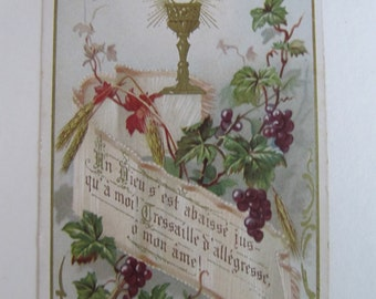 Vintage religious card, 1910's Holy cards, early 1900's Saints card, Holy Communion souvenir cards, prayer cards, European paper ephemera