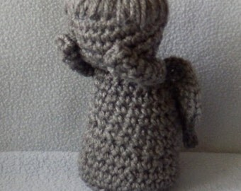 Made to order, Hand crocheted Dr. Who Doll like Weeping Angel Amigurumi Doll
