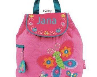 Personalized Girls Diaper Bag or Backpack Stephen Joseph Butterfly NEW