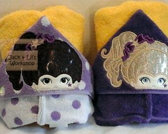 Cheerleader Hooded Towels - Geaux Tigers!
