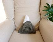 Crochet mountain pillow mountain cushion nursery pillow