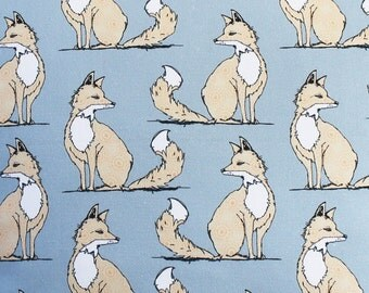 Fox Fabric - upholstery fabric - curtain fabric - fabric - fabric by the metre - fox curtains - grey fabric - woodland fabric - fat quarter