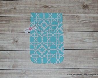 Diaper Clutch - Diaper Holder Diaper Baby Pouch Travel Diaper Clutch Teal Aqua Modern Diaper Clutch Baby Teal Aqua Geometric