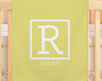 Single Initial Personalized Colorful Baby Blanket -gfyU1012851