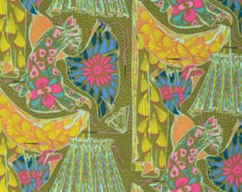 15042 - Anna Maria Horner PWAH095  Fibs & Fables Dressmaker in Brass color - 1 yard
