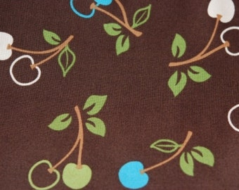 06500  Sale - Robert Kaufman Metro Market - Cherries in Cocoa 1 yard