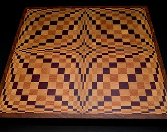 lucy in the sky with diamonds premium end grain countertop butcher block 3d cutting board custom