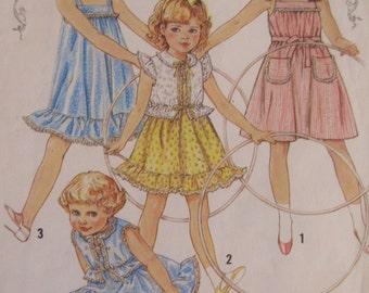 Vintage 1982 Baby Toddler Sundress and Jacket Pattern - Simplicity 5466 - Size 2 - Toddler