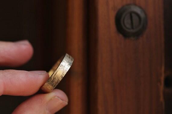Goldring breit herren  Herren Ehering breiter Gold Ring Gelb Gold Ring