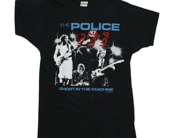 Police Ghost In The Machine Tour Shirt 1982 Vintage 80s Rock Tshirt Rare Sting Tee 1980s