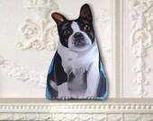 Small Boston Terrier Ornament - Stuffed Dog