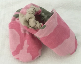 Pink Camo Baby Shoes