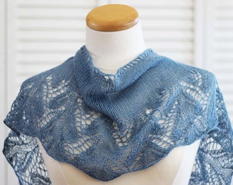 Knitting Scarf Shawl Pattern - Something Blue - Knit yourself this Scarf Shawl - DIGITAL PDF PATTERN