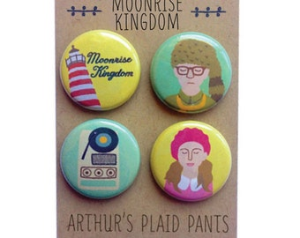 Moonrise Kingdom, Moonrise Kingdom magnet set, Wes Anderson magnets