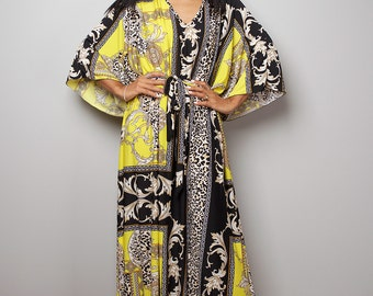 Boho Maxi Dress - Kaftan Kimono Dress : Funky Elegant Collection No.4