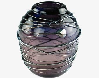 Vintage David Van Noppen Art Glass Vase