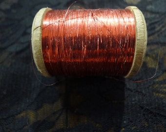 ANTIQUE spool french metal threads